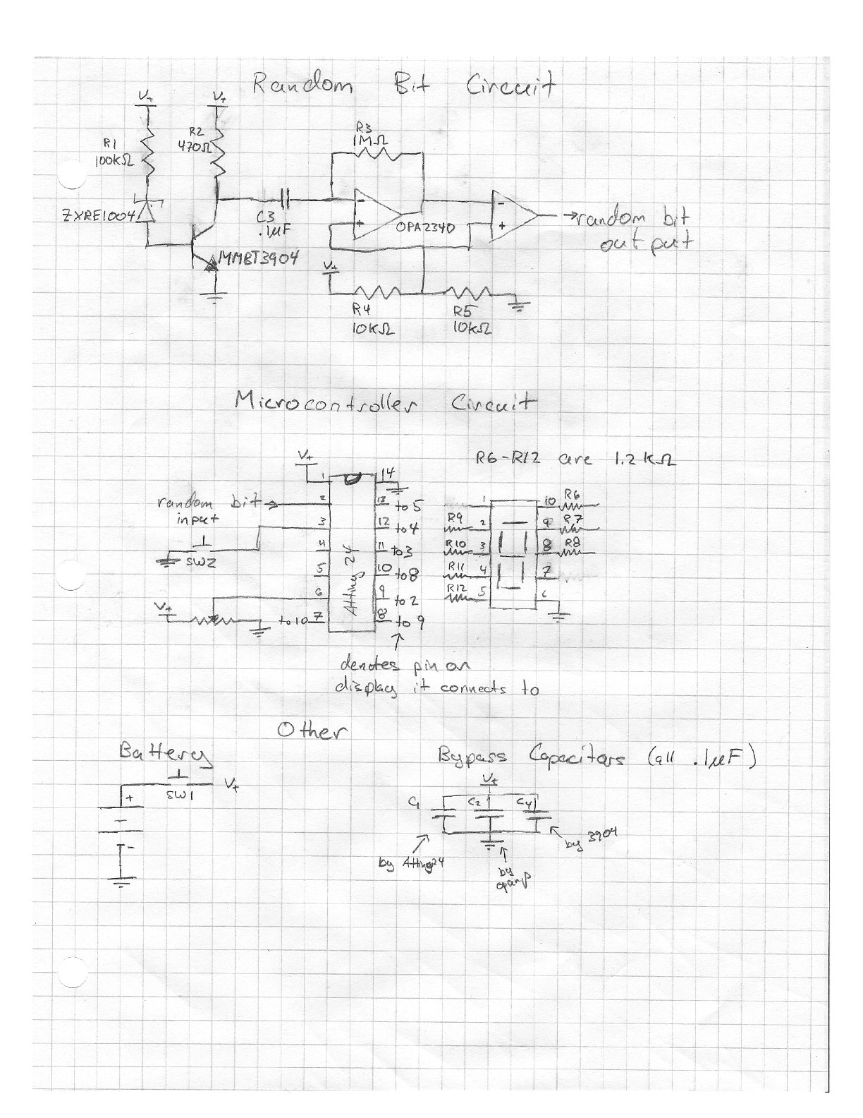 Leons Mini Random Number Generator Mrng Links Tone Circuit Light Control More The Schematic For Whole